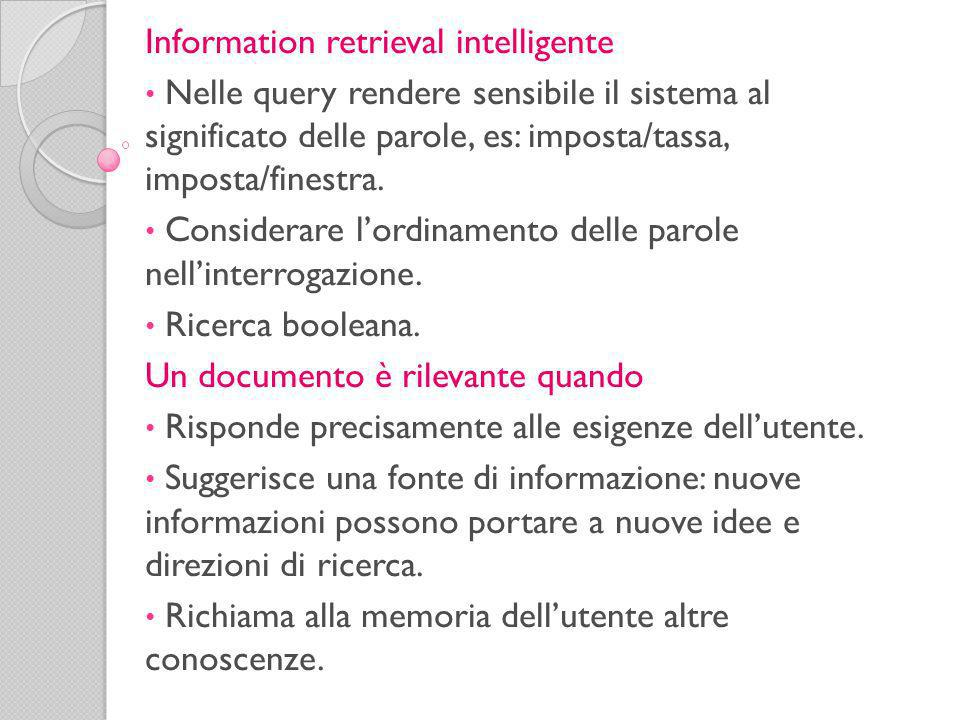 Information retrieval intelligente