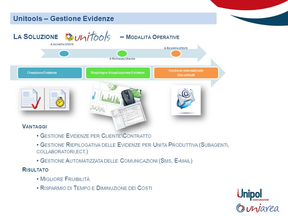 Unitools – Gestione Evidenze