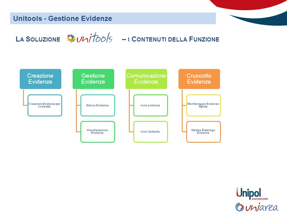 Unitools - Gestione Evidenze