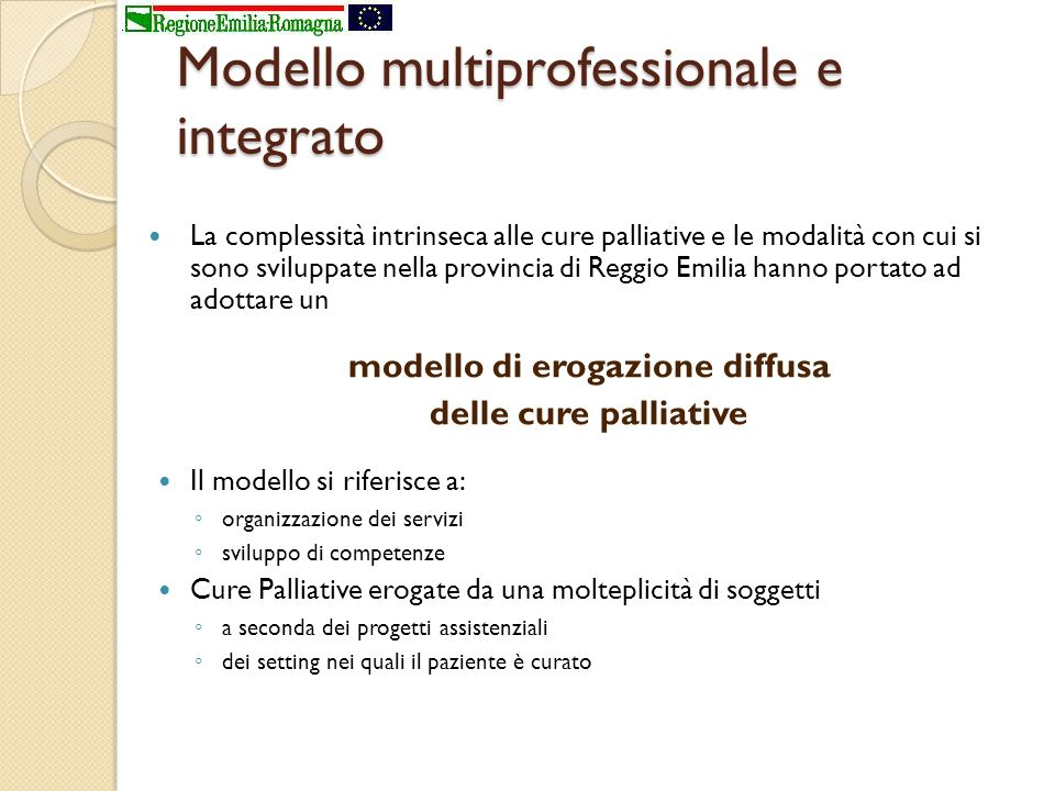 Modello multiprofessionale e integrato