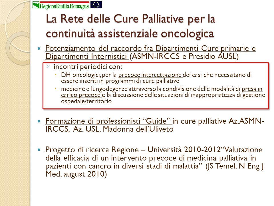 La Rete delle Cure Palliative per la continuità assistenziale oncologica