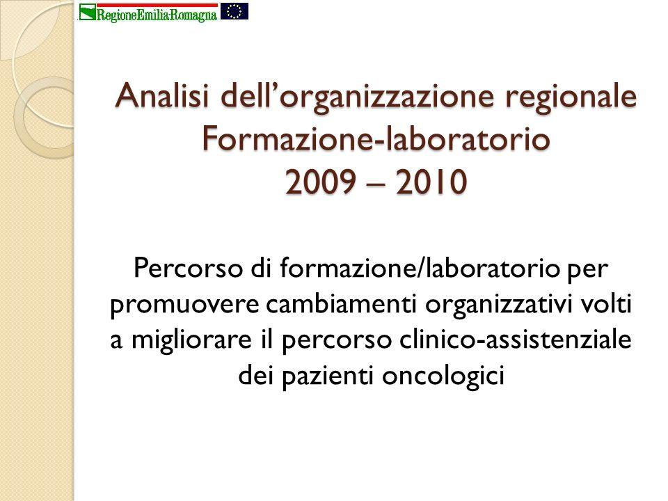 Analisi dell'organizzazione regionale Formazione-laboratorio 2009 – 2010