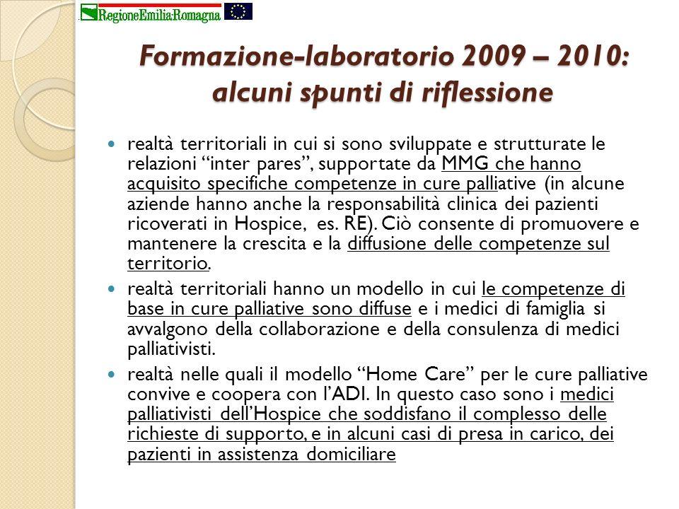 Formazione-laboratorio 2009 – 2010: alcuni spunti di riflessione