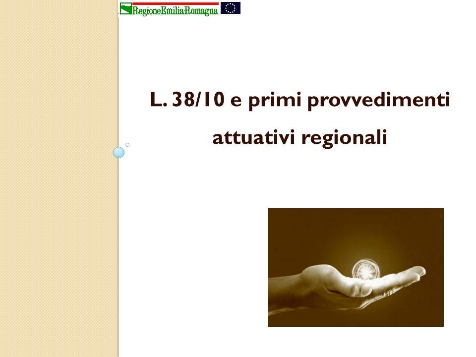 L. 38/10 e primi provvedimenti attuativi regionali