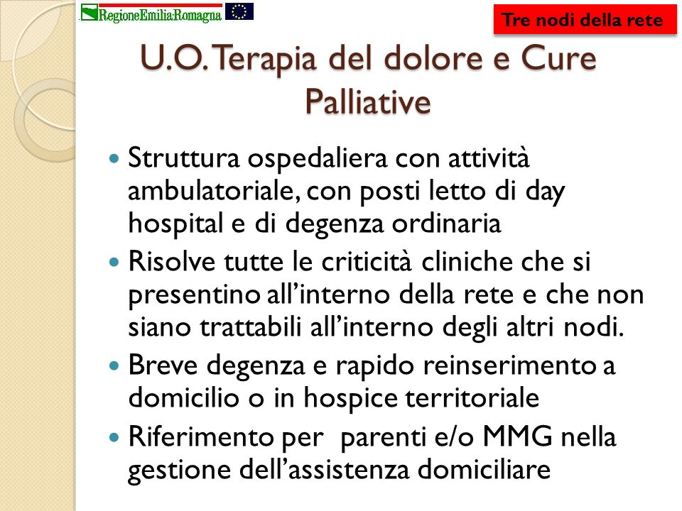U.O. Terapia del dolore e Cure Palliative