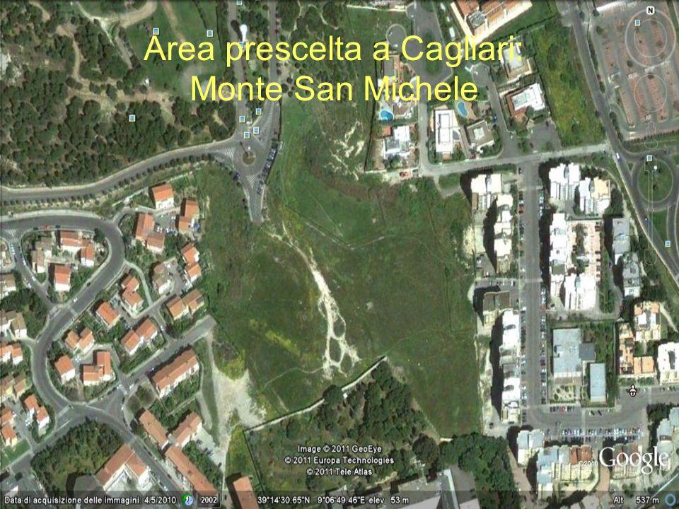 Area prescelta a Cagliari: Monte San Michele