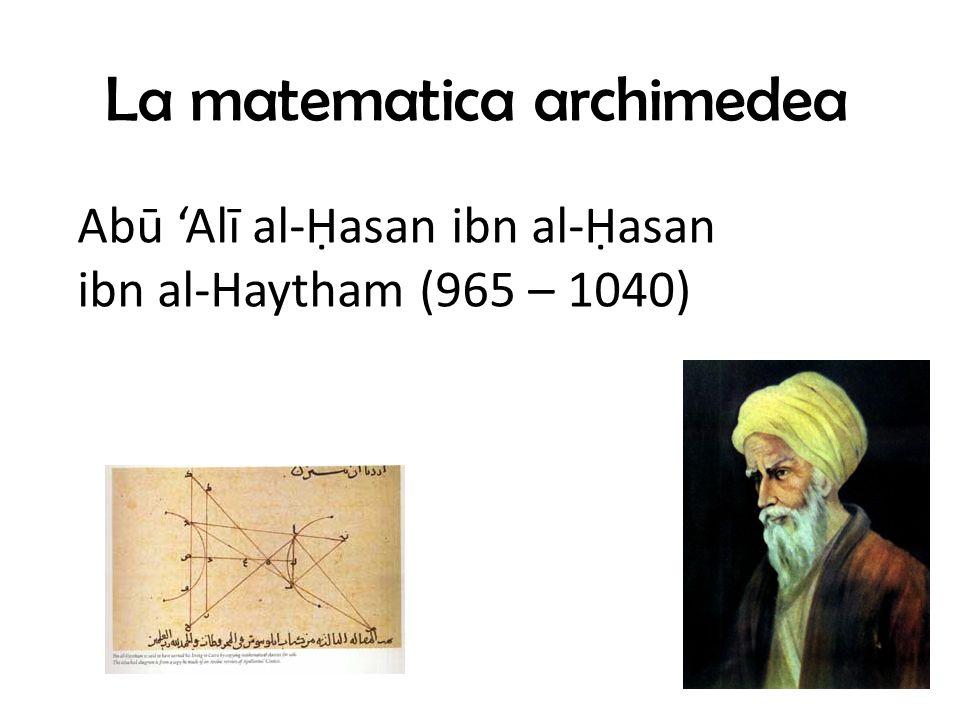 La matematica archimedea