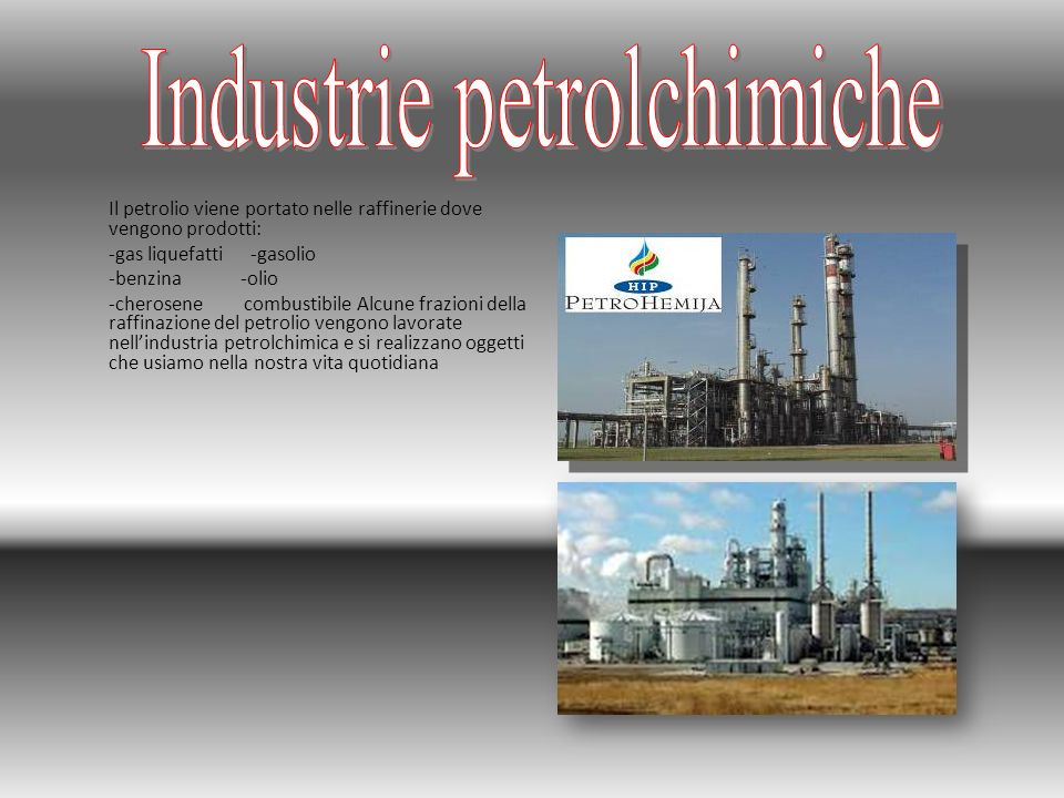 Industrie petrolchimiche