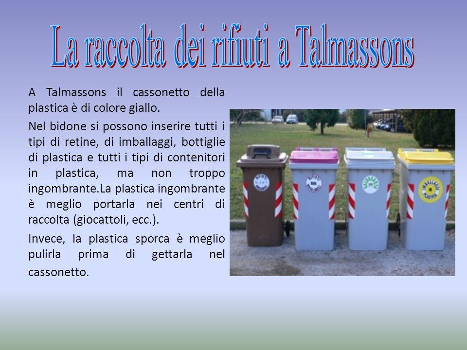 La raccolta dei rifiuti a Talmassons