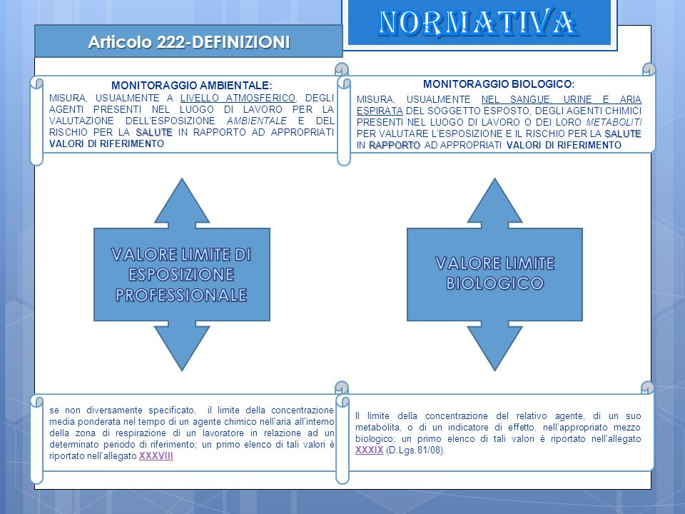 NORMATIVA Articolo 222-DEFINIZIONI