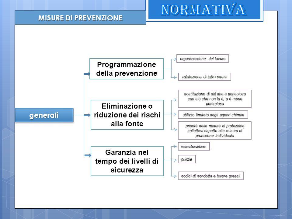 NORMATIVA MISURE DI PREVENZIONE Programmazione della prevenzione