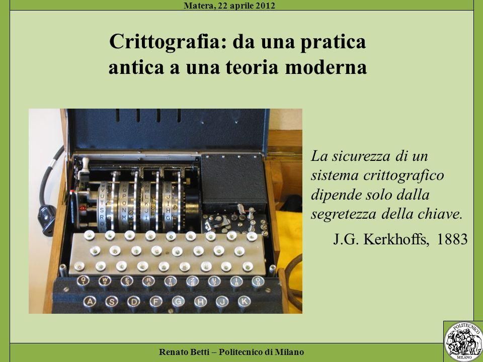Crittografia: da una pratica antica a una teoria moderna