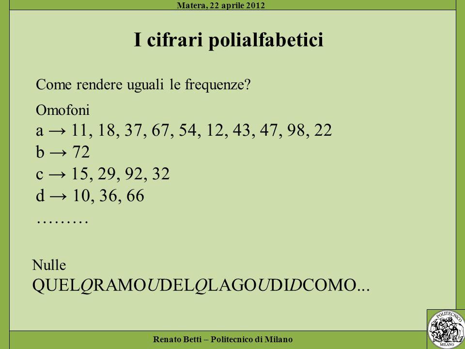 I cifrari polialfabetici
