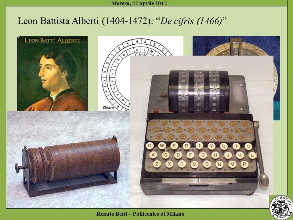 Leon Battista Alberti (1404-1472): De cifris (1466)
