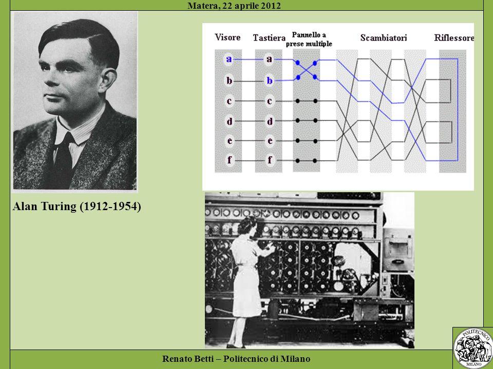 Alan Turing (1912-1954) Matera, 22 aprile 2012