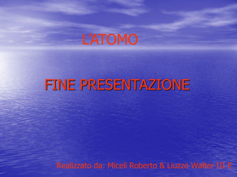 L'ATOMO FINE PRESENTAZIONE