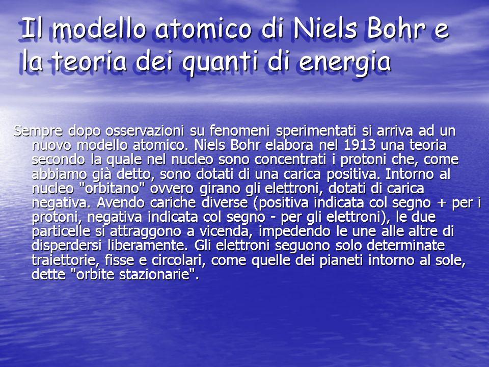 Il modello atomico di Niels Bohr e la teoria dei quanti di energia
