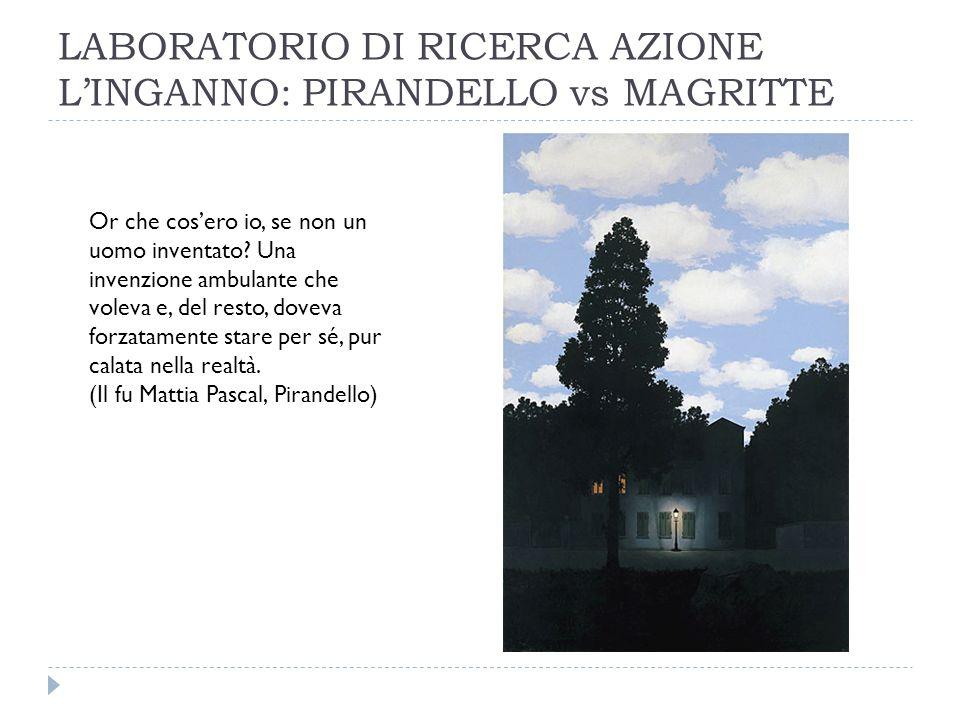 LABORATORIO DI RICERCA AZIONE L'INGANNO: PIRANDELLO vs MAGRITTE