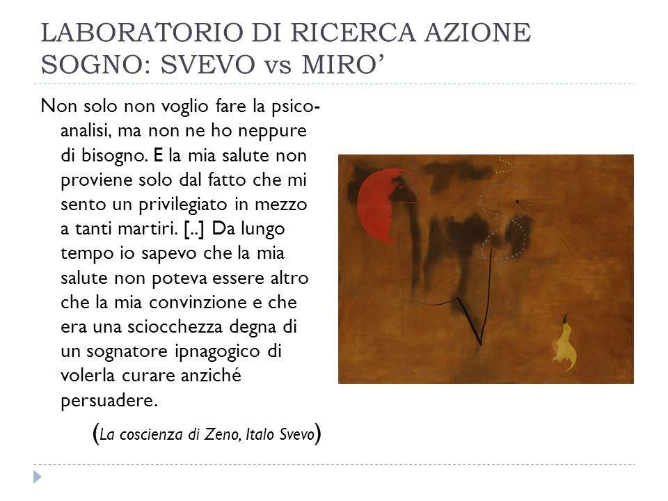 LABORATORIO DI RICERCA AZIONE SOGNO: SVEVO vs MIRO'