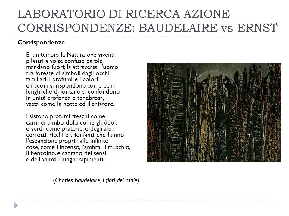 LABORATORIO DI RICERCA AZIONE CORRISPONDENZE: BAUDELAIRE vs ERNST
