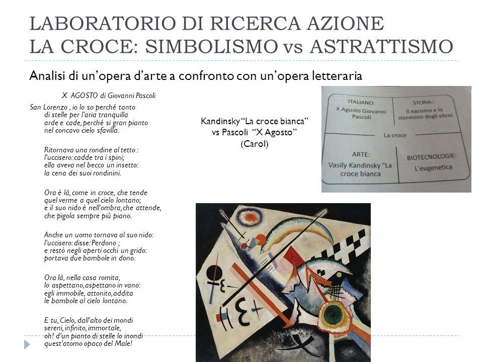 LABORATORIO DI RICERCA AZIONE LA CROCE: SIMBOLISMO vs ASTRATTISMO
