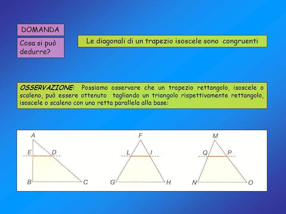 Le diagonali di un trapezio isoscele sono congruenti