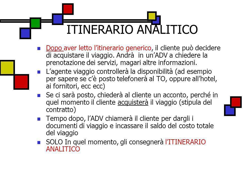 ITINERARIO ANALITICO