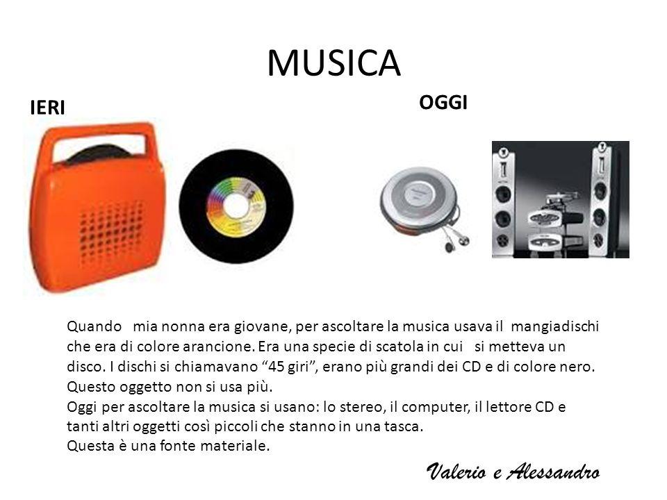 MUSICA Valerio e Alessandro OGGI IERI