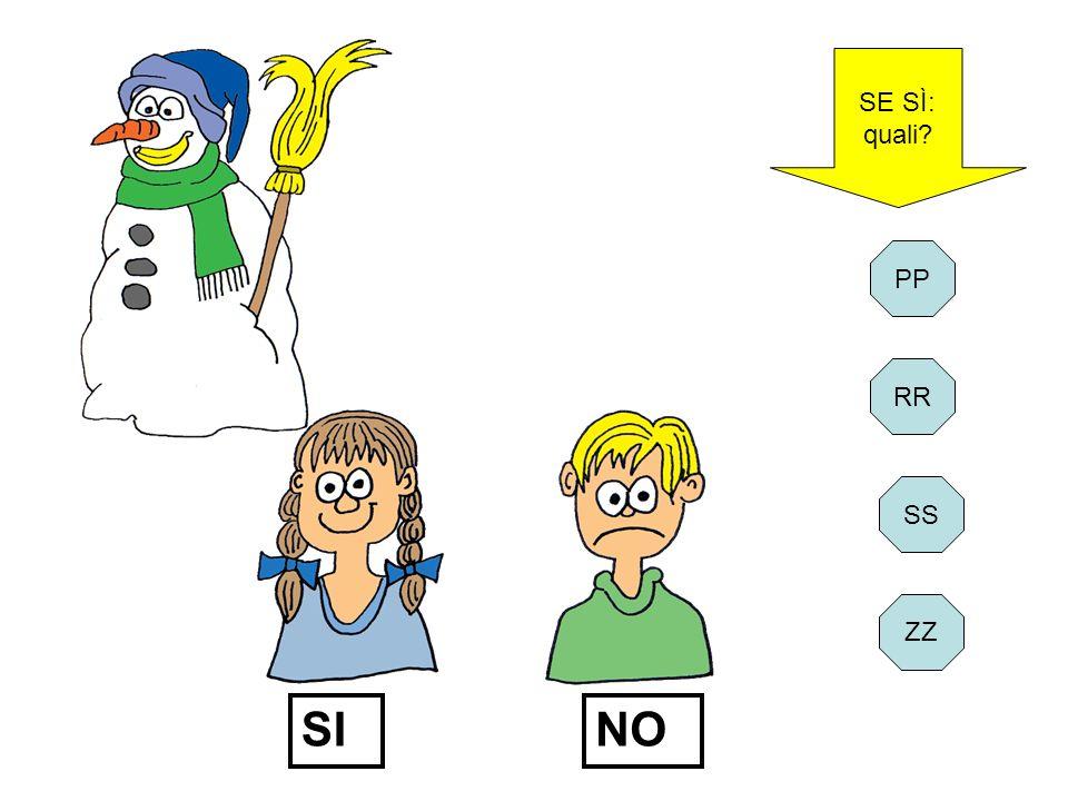 SE SÌ: quali PP RR SI NO SS ZZ