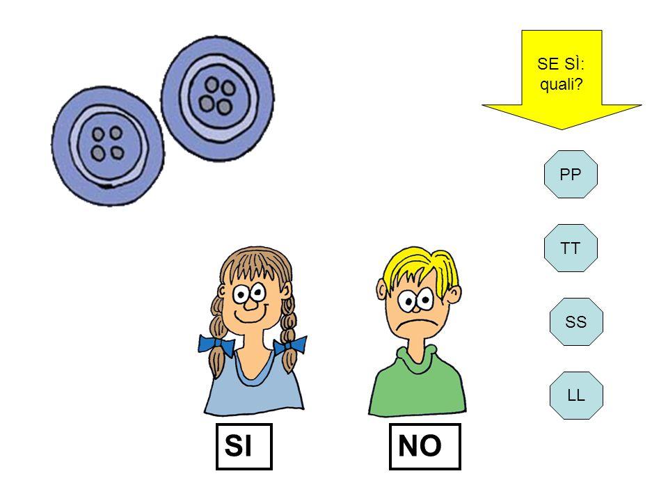 SE SÌ: quali PP TT SI NO SS LL