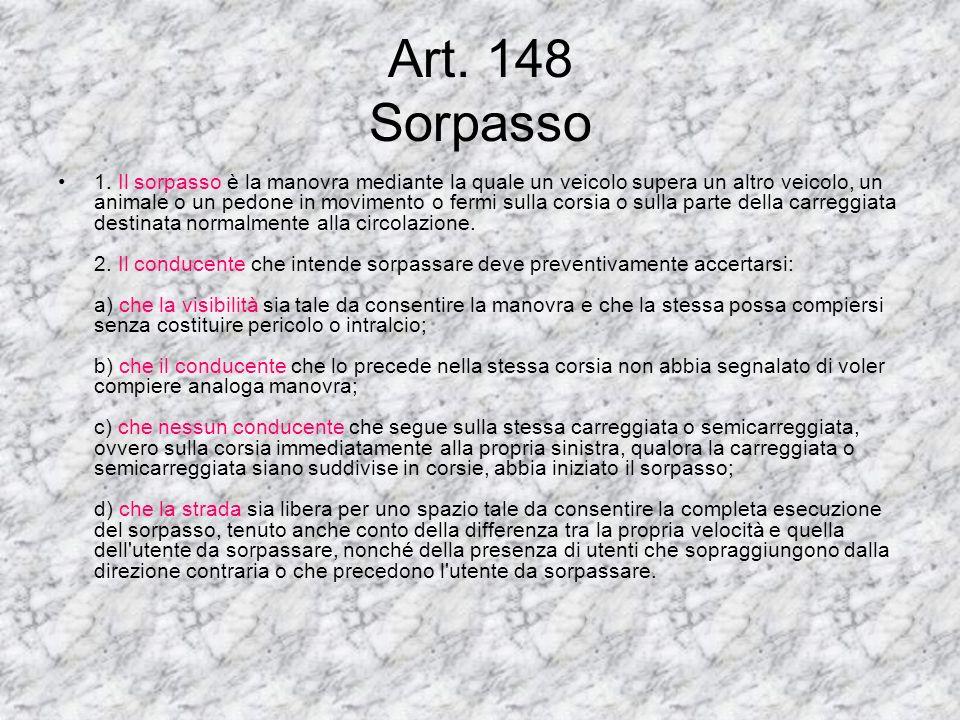 Art. 148 Sorpasso