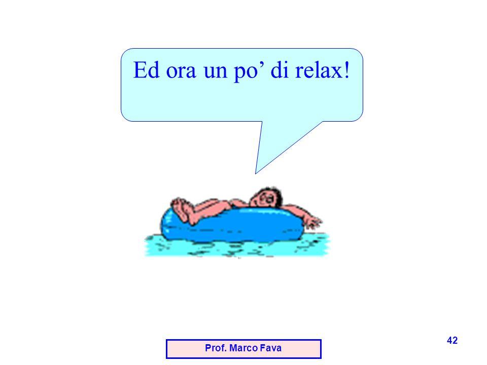 Ed ora un po' di relax! Prof. Marco Fava