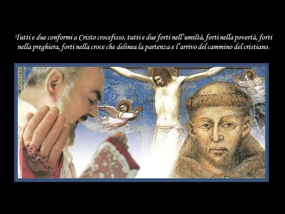 Tutti e due conformi a Cristo crocefisso, tutti e due forti nell'umiltà, forti nella povertà, forti nella preghiera, forti nella croce che delinea la partenza e l'arrivo del cammino del cristiano.