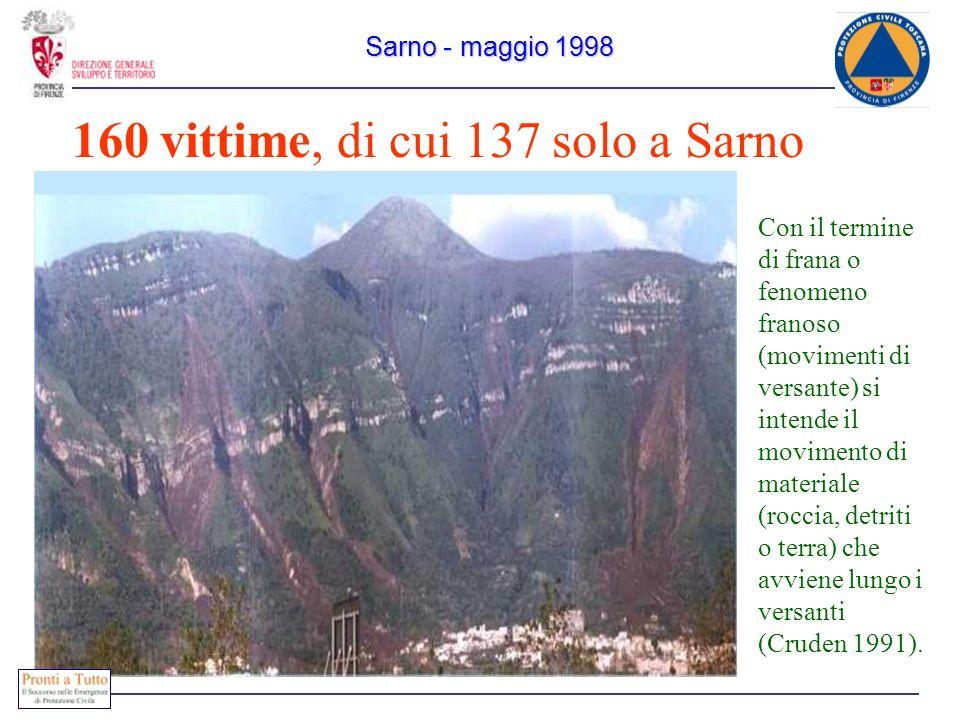 160 vittime, di cui 137 solo a Sarno