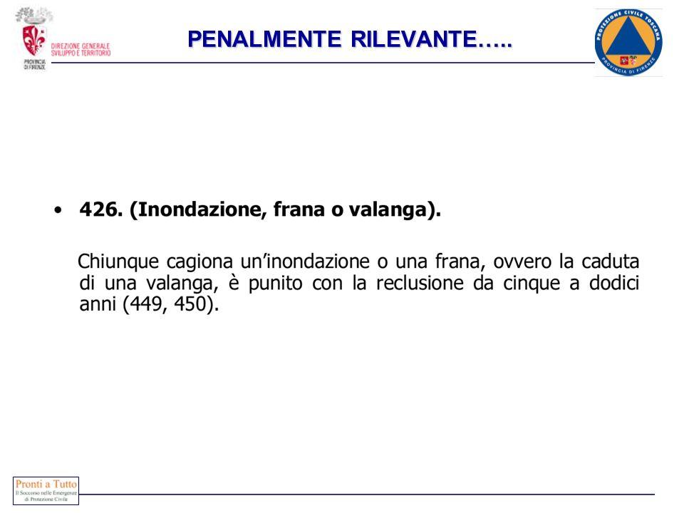 PENALMENTE RILEVANTE…..