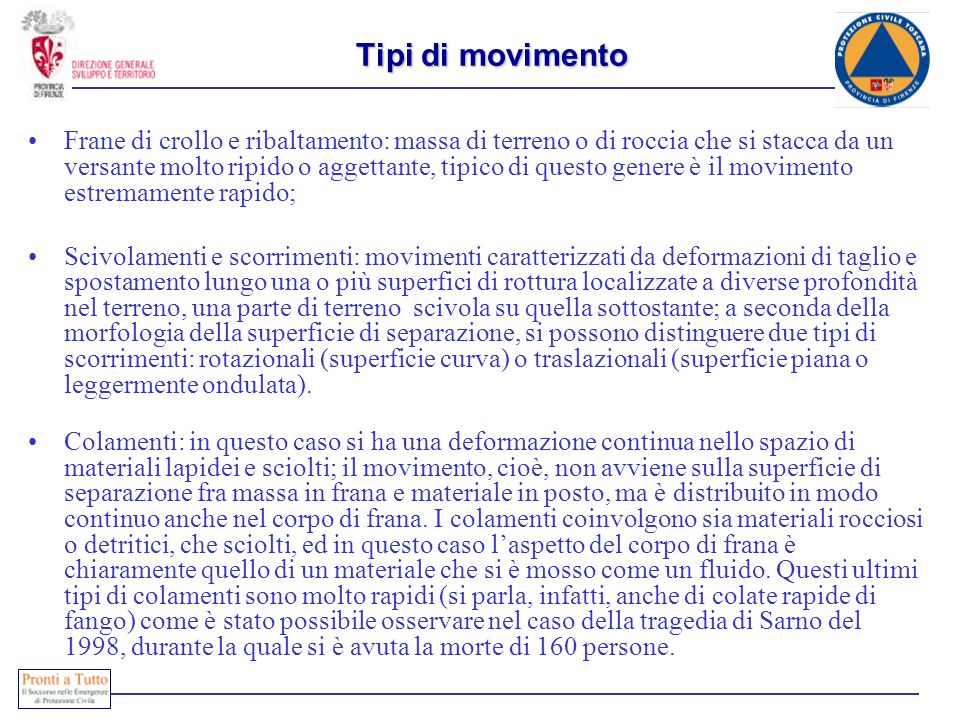 Tipi di movimento