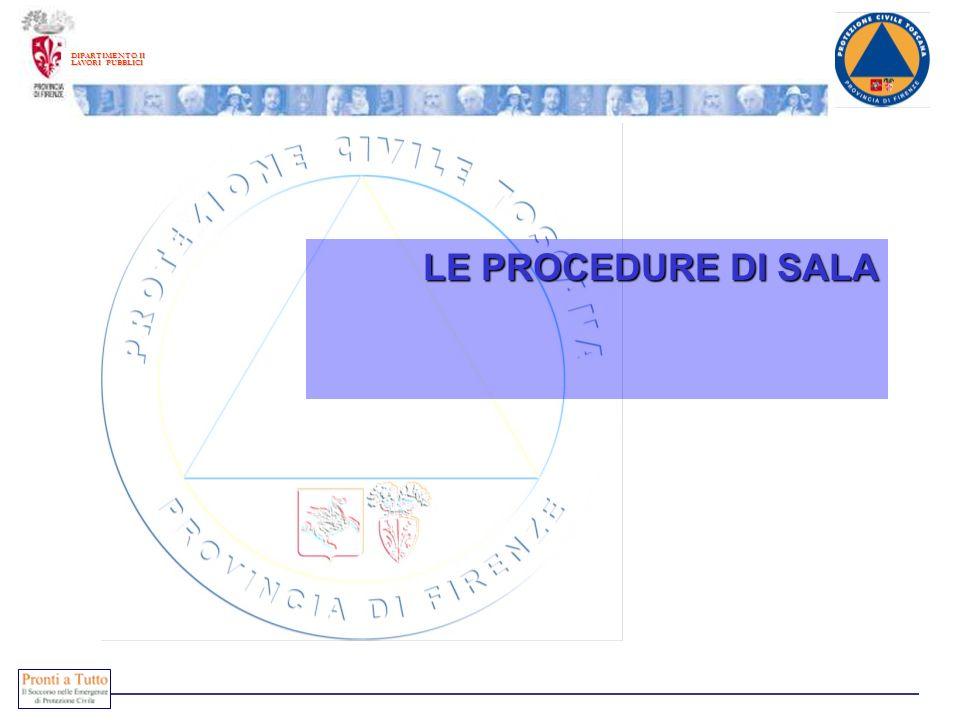 DIPARTIMENTO II LAVORI PUBBLICI LE PROCEDURE DI SALA