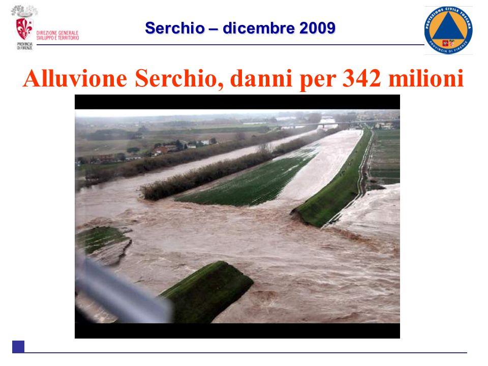 Alluvione Serchio, danni per 342 milioni