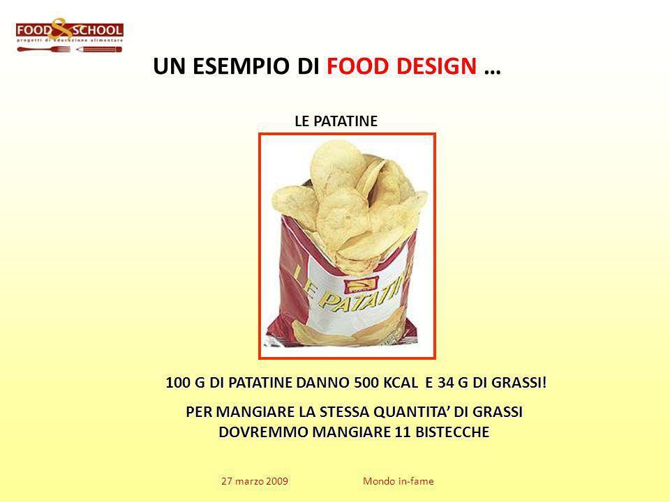 UN ESEMPIO DI FOOD DESIGN … PER MANGIARE LA STESSA QUANTITA' DI GRASSI