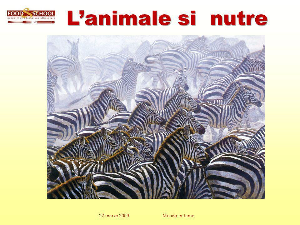 L'animale si nutre