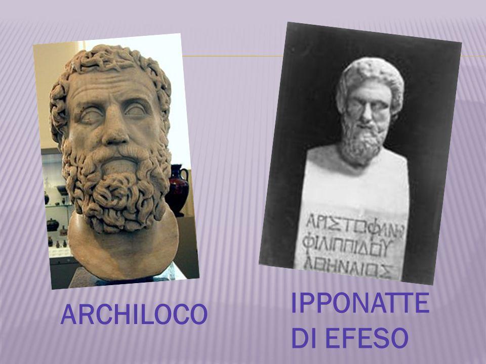 IPPONATTE DI EFESO ARCHILOCO