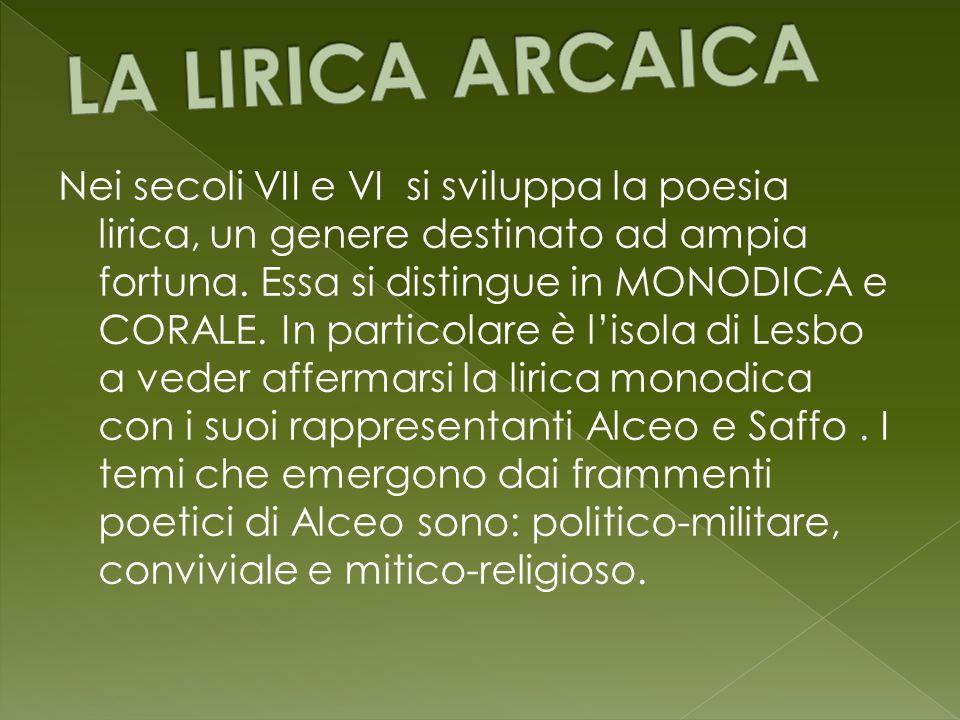 LA LIRICA ARCAICA