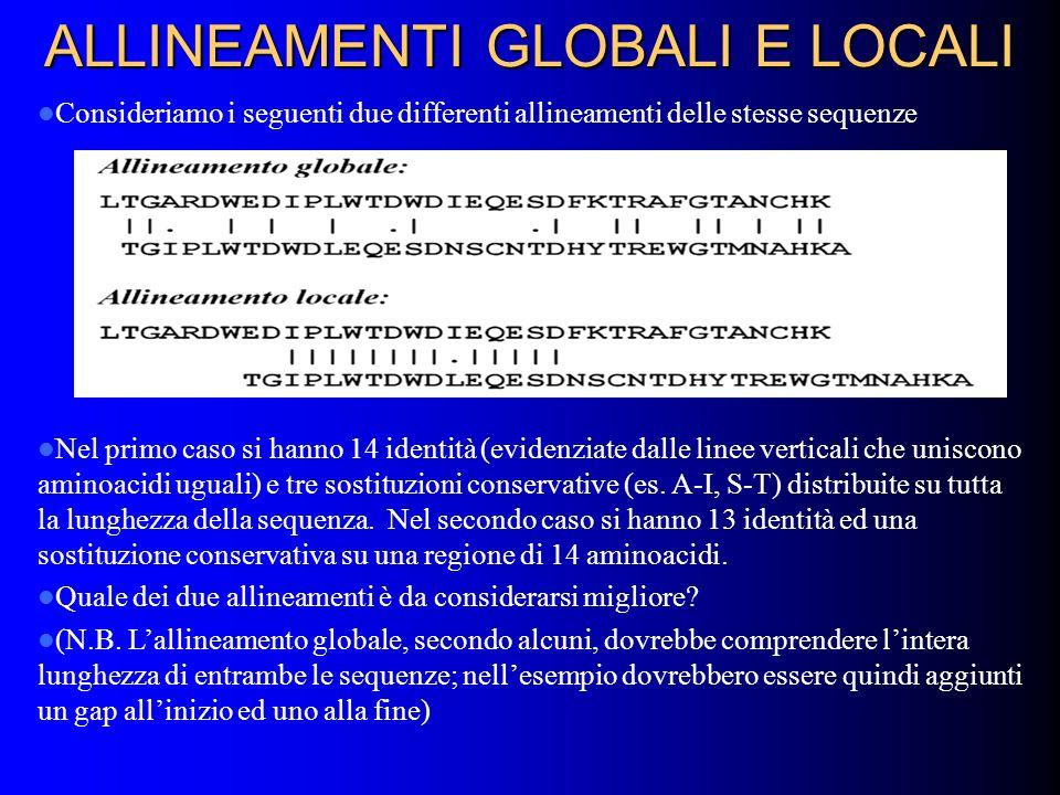 ALLINEAMENTI GLOBALI E LOCALI