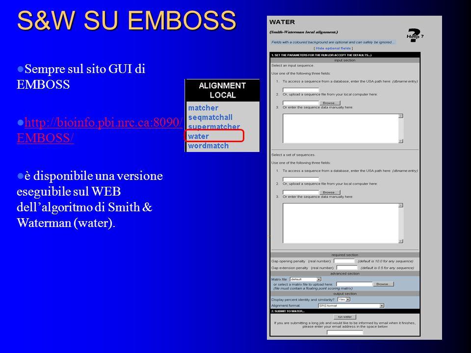 S&W SU EMBOSS Sempre sul sito GUI di EMBOSS