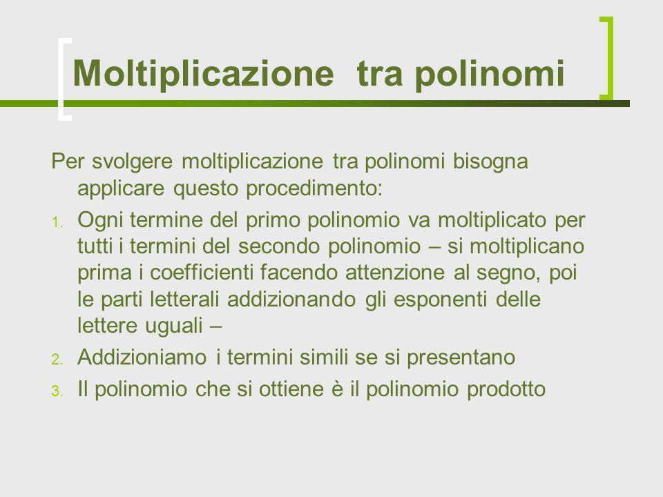 Moltiplicazione tra polinomi