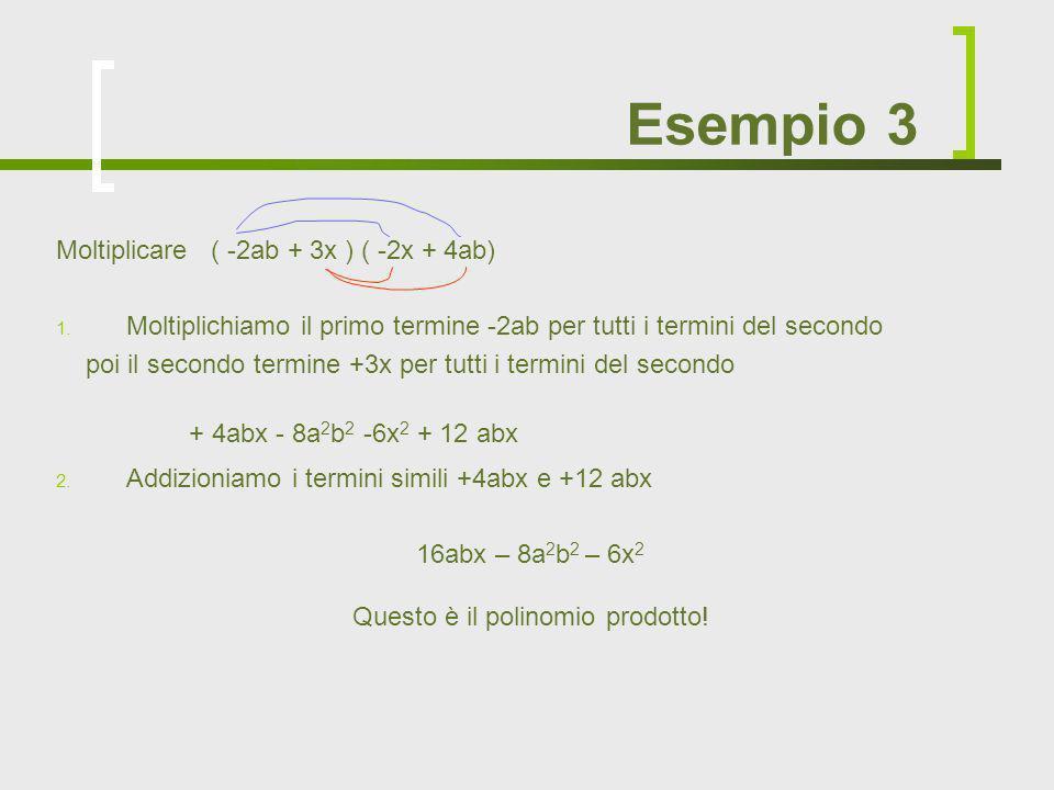 Questo è il polinomio prodotto!
