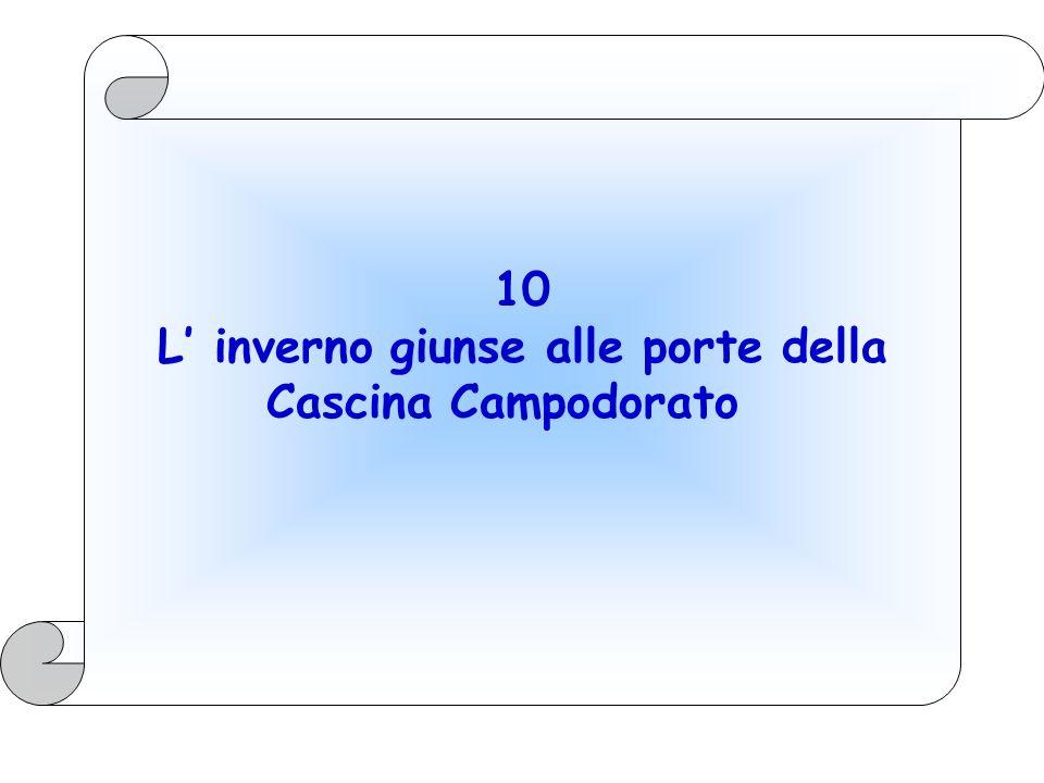 10 L' inverno giunse alle porte della Cascina Campodorato