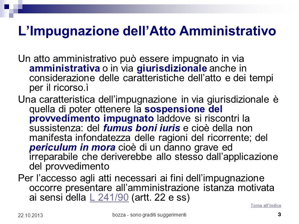 L'Impugnazione dell'Atto Amministrativo