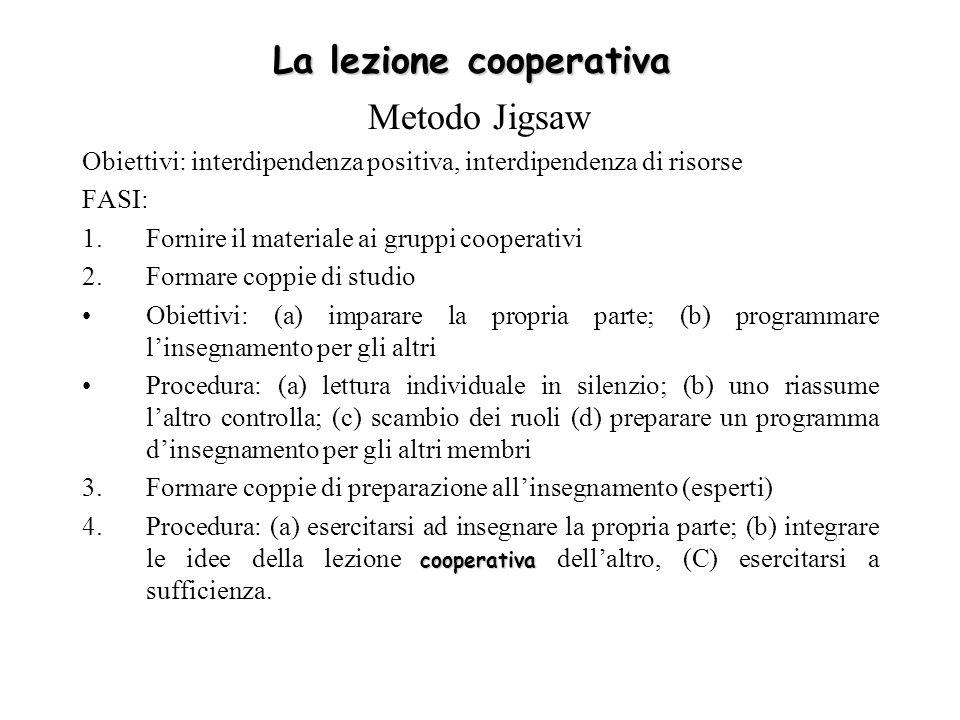 La lezione cooperativa