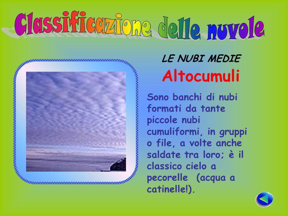 Classificazione delle nuvole